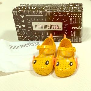 Mini Melissa yellow fish shoes 7